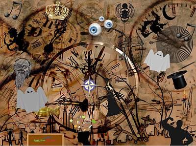 Digital Art - Inside Time by Steven Brier