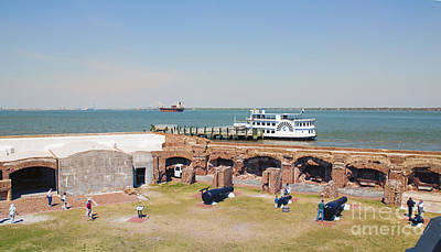 Inside View Of Fort Sumter Art Print