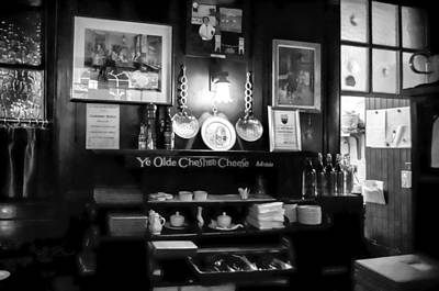 Photograph - Inside Ye Olde Cheshire Cheese Pub by Sharon Popek