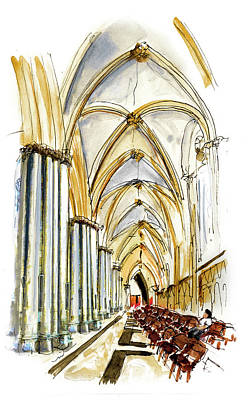 Painting - Inside York Cathedral by Miki De Goodaboom