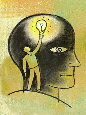 Painting - Inside Your Mind by Leon Zernitsky