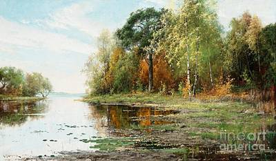 Painting - Insjolandskap In Autumn Colors by Celestial Images