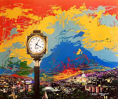 Tbilisi Painting - Insomnia In Tbilisi by Sofia Tatarashvili