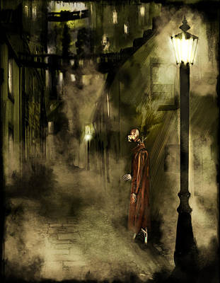 Gas Lamp Painting - Inspector Hook by Mandem