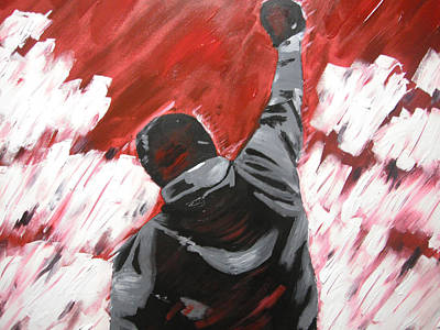 Sylvester Stallone Painting - Inspiration  - Rocky Balboa by Holly Donohoe