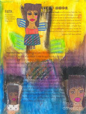 Mixed Media - Inspiration Angels by Angela L Walker