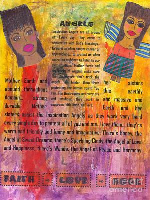 Mixed Media - Inspiration Angels II by Angela L Walker