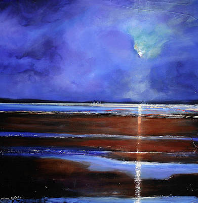 Night Angel Painting - Inspiration Beach by Toni Grote