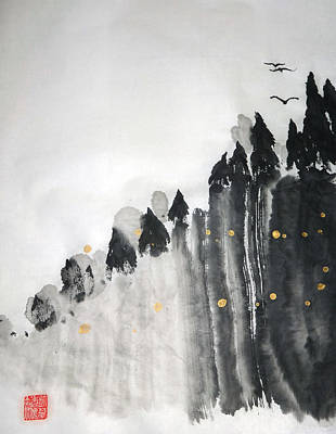 Painting - Inspiration Cliffs by Casey Shannon