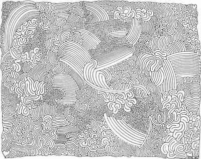 Maze Art Drawing - Inspiration by Steven Natanson