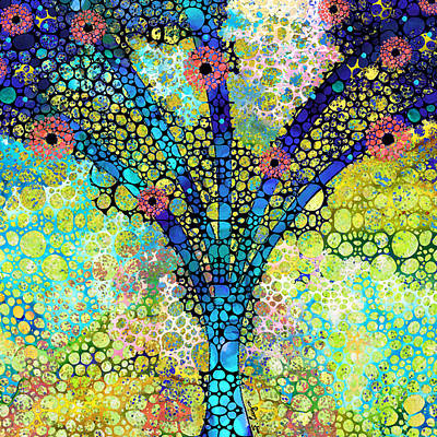 Inspirational Art - Absolute Joy - Sharon Cummings Art Print by Sharon Cummings