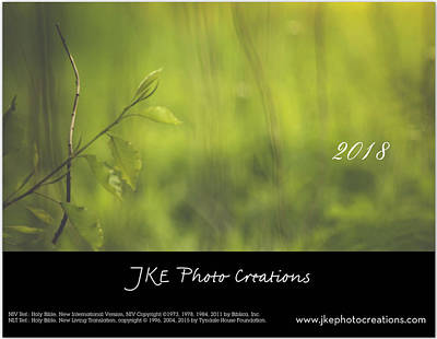 Photograph - Inspirational Calendar Cover Preview by Joni Eskridge