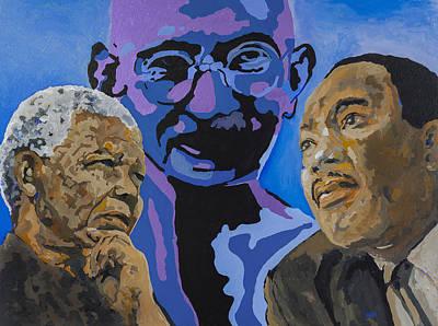 Civil Rights Painting - Inspirational Men by Dari Artist