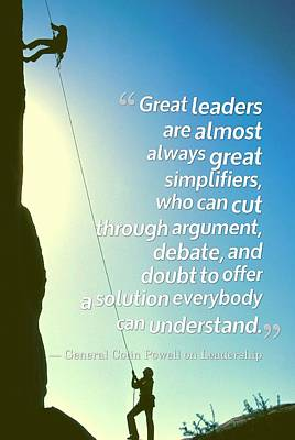 Inspirational Quotes - Motivational , Leadership - 29 General Colin Powell Art Print