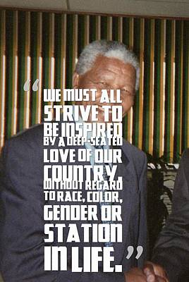 Inspirational Quotes - Motivational - 102 Nelson Mandela Art Print