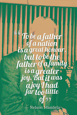 Inspirational Quotes - Motivational - 120 Nelson Mandela Art Print