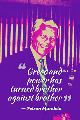 Sustain Painting - Inspirational Quotes - Motivational - 123 Nelson Mandela by Celestial Images