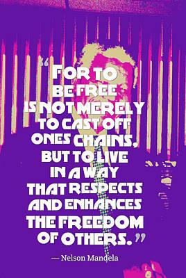 Inspirational Quotes - Motivational - 124 Nelson Mandela Art Print