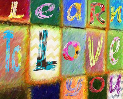Digital Art - Inspirational Saying Colorful Abstract  by Rebecca Korpita