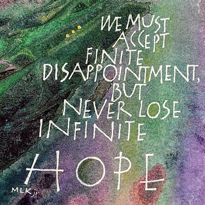 Mixed Media - Inspirational Saying Hope by Sally Wightkin