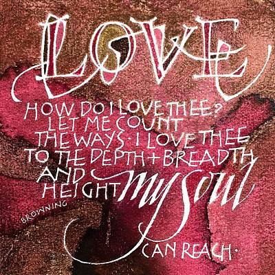 Painting - Inspirational Saying Love by Sally Wightkin