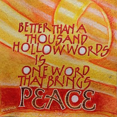 Painting - Inspirational Saying Peace by Sally Wightkin