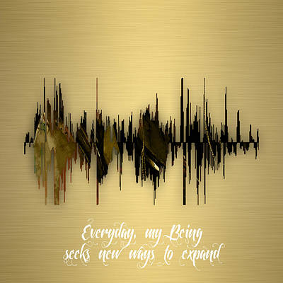 Mixed Media - Inspirational Soundwave Message by Marvin Blaine