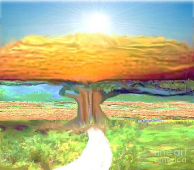 Painting - Inspirational Spiritual Path by Belinda Threeths
