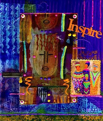 Inspire Art Print by Angela L Walker
