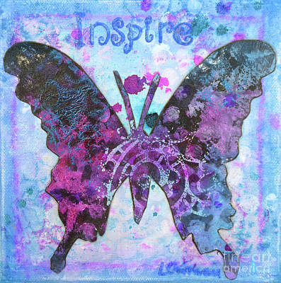 Painting - Inspire Butterfly by Lisa Crisman