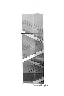 Photograph - Inspired  #1 Staircase In Plexiglass by Margie Avellino