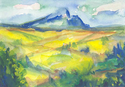 Inspired By Cezanne Art Print by Connie Schaertl