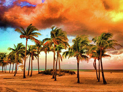 Digital Art - Crandon Park Beach by Stefan Mazzola