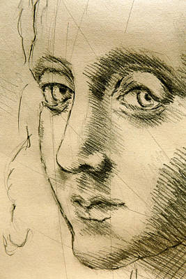 Photograph - Inspired By Leonardo Da Vinci #01, Close Up- Italian Renaissance Drawings In Pencil, Graphite, Sangu by Alessandro Nesci