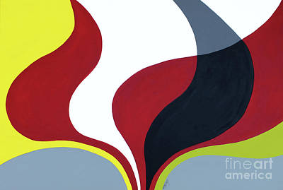 Inspired By Mid Century Modern Art Print by GG Burns