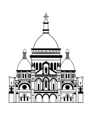 Inspired By The Sacre Coeur Art Print by Asbjorn Lonvig