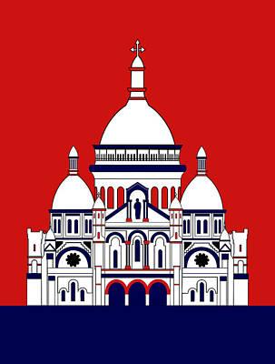 Inspired By The Sacre Coeur Basilica Art Print by Asbjorn Lonvig