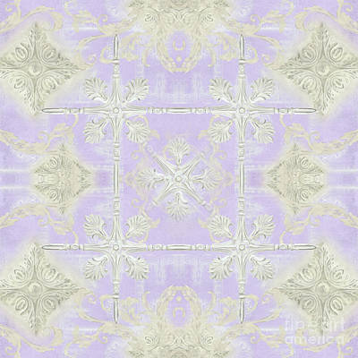 Painting - Inspired Coast Architectural Molding Ornament Pattern Lavender Violet by Audrey Jeanne Roberts
