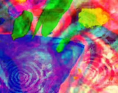 Mixed Media - Inspired Flower Pot by Fania Simon