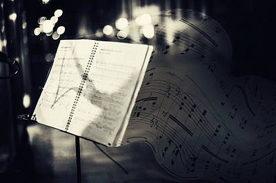 Music Stand Photograph - Inspiring Music Of The Night Streets by Jenny Rainbow