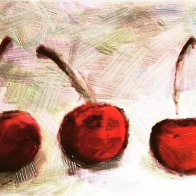 Drawing - Red by Naomi Ibuki