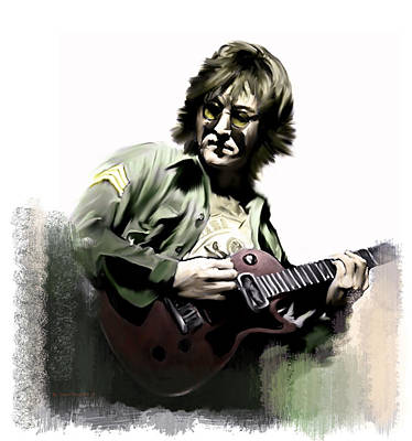 Phone Painting - Instant Karma  John Lennon by Iconic Images Art Gallery David Pucciarelli