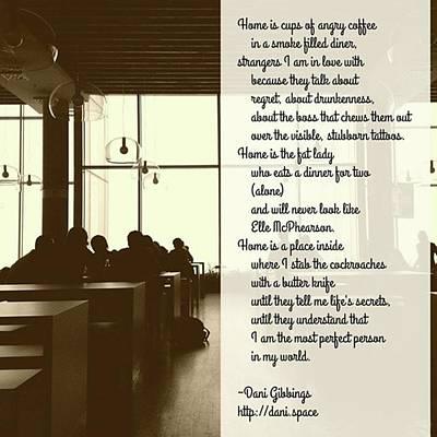 #instapoet #poetrycommunity #poetry Art Print by Danielle McGaw