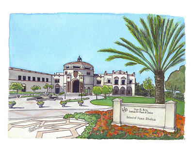 Painting - Institute Of Peace And Justice by Betsy Hackett