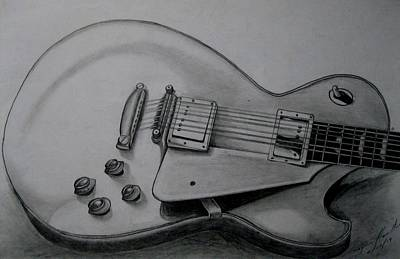 Hand Made Drawing - Instrument Of Fine Music by Dwayne  Hamilton