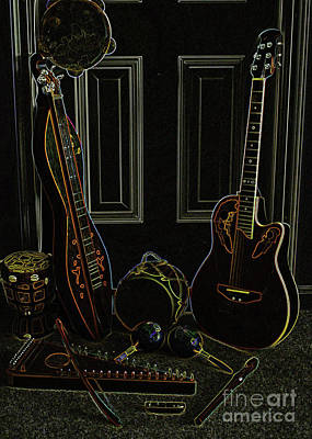 Photograph - Instruments Aglow by Lydia Holly