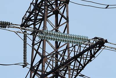 Amperage Photograph -  Insulators High Voltage Power Lines by Sergey Ivashutin