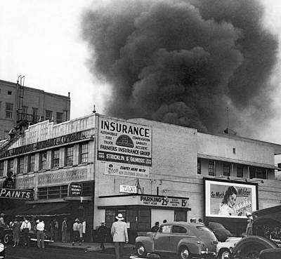 Photograph - Insurance Company Fire by Underwood Archives