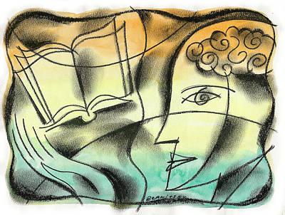 Education Painting - Intelligence, Knowledge, Learning by Leon Zernitsky