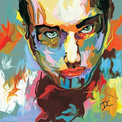 Digital Art - Intense Face 2 by Darren Cannell